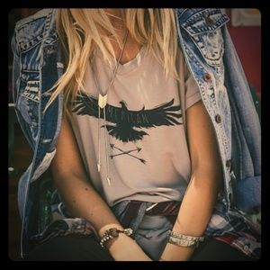White Crow ~ American GraphicTee